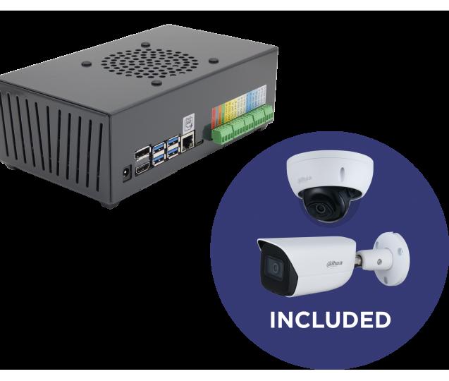 Kit - ODS Lite + Dome Camera IP Dahua IPC-HDBW3441E-S + Bullet IP Camera Dahua IPC-HFW3441E-SA
